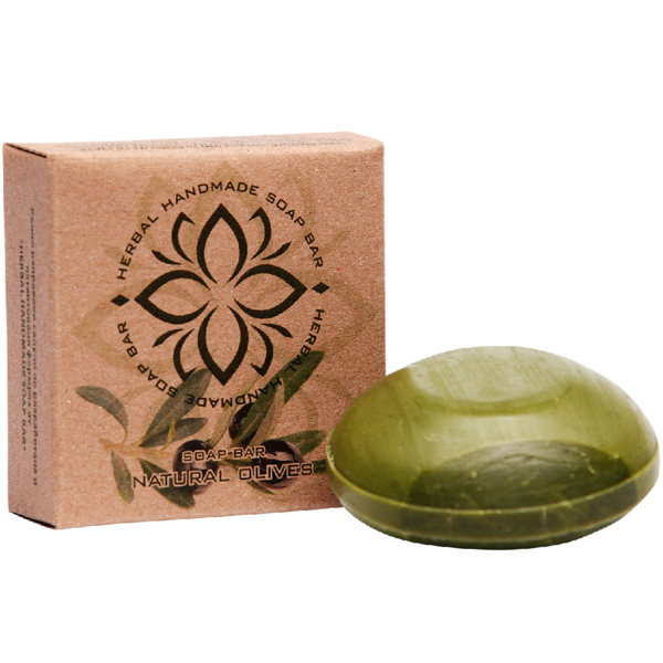 Olives box soap cut